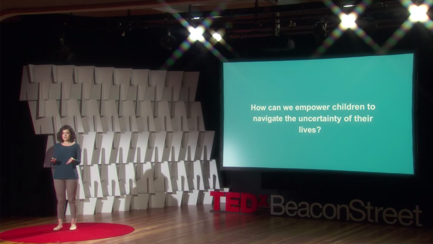 Masha Gershman presenting at TED