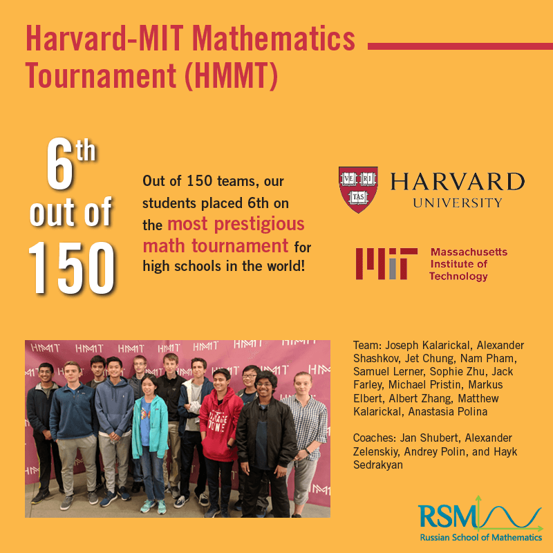 Team RSM at the Harvard-MIT Tournament