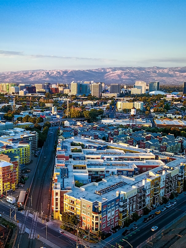 Birds eye view of San Jose, California