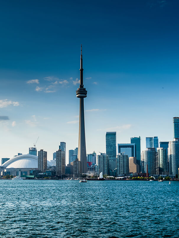 Skyline view of Toronto, Canada.